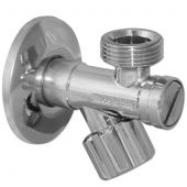 Кран с фильтром вентильный для сантехприборов Albertoni 1/2х3/4 (B144587SCV)