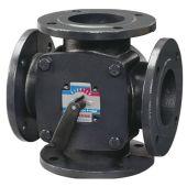 Поворотный смесительный 4-ходовой клапан F ESBE DN65 kvs 90