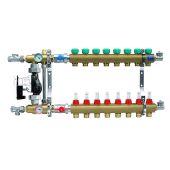 Коллектор для теплого пола KAN с расходомерами (серия 73E) на 8 выходов