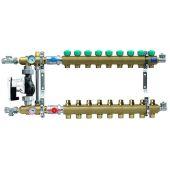 Коллектор для теплого пола KAN на 9 выходов без расходомеров (серия 77E) (7709E)