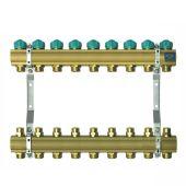 Коллектор для теплого пола KAN на 9 выходов без расходомеров (серия 71A) (71090A)