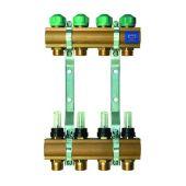 Коллектор для теплого пола KAN с расходомерами (серия 75A) на 9 выходов