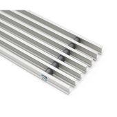 Решетка алюминиевая для внутрипольного конвектора Konveka линейная GR-L 200-32 ALS Серебро