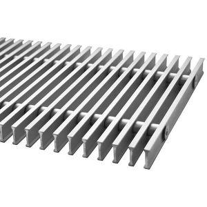 Решетка дюралюминиевая для внутрипольного конвектора Polvax шириной 380 мм 2250