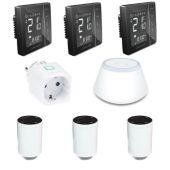 Комплект управления радиаторами на три комнаты Salus Smart Radi -3 (230) black edition
