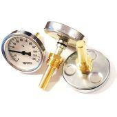 Термометр биметаллический аксиальный Watts F + R801 OR (TAS) 63мм с погружной гильзой 50мм (10005800)